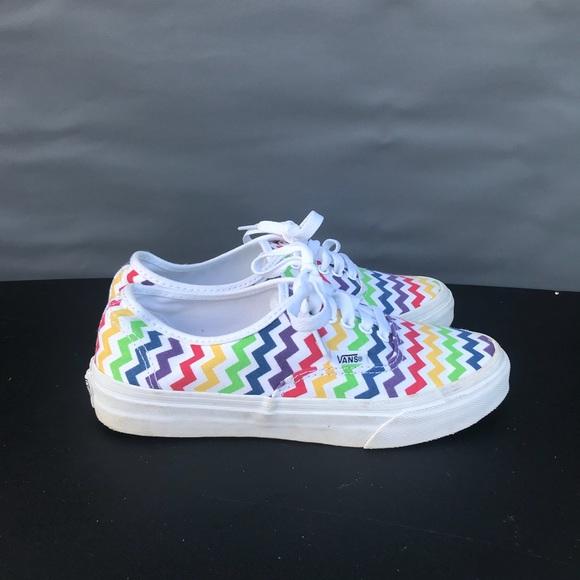 Vans Shoes | Vans Rainbow Zig Zag